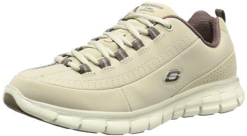 Skechers  SynergyTrend Setter,  Sneaker donna, Beige (STBR), 37