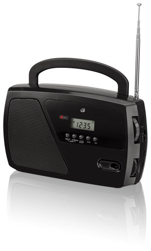 Gpx, Inc. R633B Portable Shortwave Am/Fm Clock Radio (Black)
