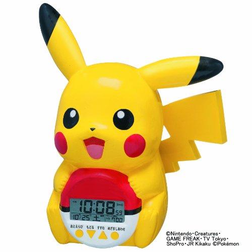 SEIKO CLOCK(セイコークロック) ポケモン ピカチュウ 立体おしゃべり目覚まし時計 JF373A
