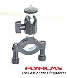 Flyfilms Multi-function Double Ballhead Rail Clamp for DSLR DV HDV Video Movie