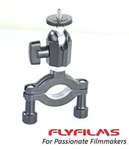 Flyfilms Multi function Double Ballhead Rail Clamp for DSLR DV HDV Video Movie