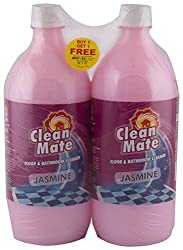 Big Bazaar Combo - Cleanmate Floor and Bathroom Cleaner Jasmine, 1L (Buy 1 Get 1, 2 pcs) Promo Pack
