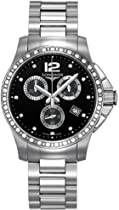 Longines Conquest Black Diamond Dial Chronograph Stainless Steel Ladies Watch L32790576