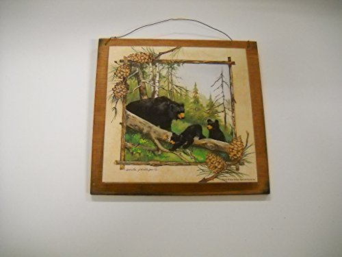 Cabin decor wall hangings : Bear hollow black bears sign lodge cabin decor camper
