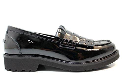 Nero Giardini A616020D Nero Mocassini Scarpe Donna Bambina Stile Inglese