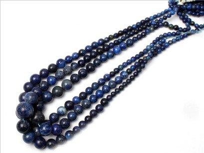 6--16mm Graduated gemstone lapis lazuli beads strand 15