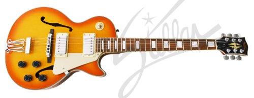 Stellar Mercury 003 Premium - Faded Cherry Sunburst - Les Paul Style Full Hollowbody Electric Guitar