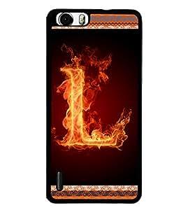 Printvisa 2D Printed Alphabet L Designer back case cover for Huawei Honor 6 - D4201