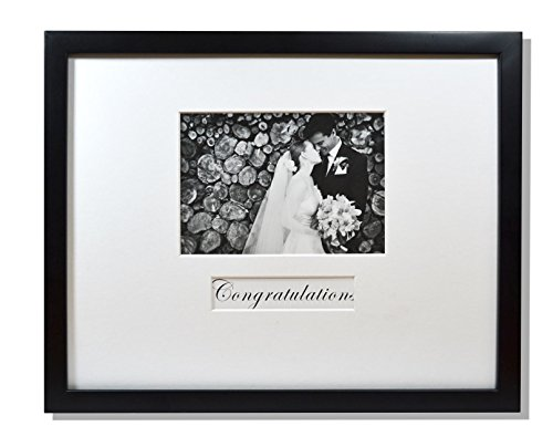 Golden State Art, 11x14 Wedding Wood Wall Frame for 5x7 Picture with Signature Mat, Black (Signature Board compare prices)