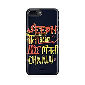 Motivatebox-Apple Iphone 7 plus cover-quirky seedhi baat Polycarbonate 3D Hard case protective back cover. Premium Quality designer Printed 3D Matte finish hard case back cover.