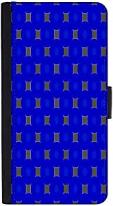 Snoogg Golden Blocks Blue Pattern Designer Protective Phone Flip Back Case Cover For Lenovo Vibe K4 Note