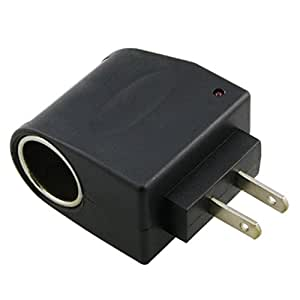 Universal AC to DC Car Cigarette Lighter Socket Adapter (US Plug)