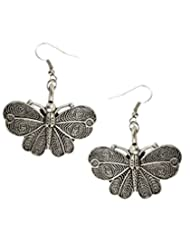 8 Republic London 925 Sterling Silver Butterfly Charm Drop Earrings For Women