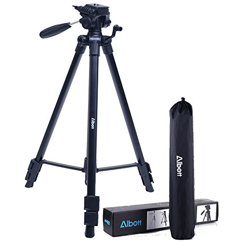 Albott-64-Travel-Tripod-Portable-Aluminium-Lightweight-with-Carrying-Bag-for-DSLR-Cameras-Video