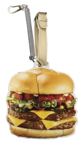 コードがのびる かわいいICカードパスケースホルダー ハンバーガー