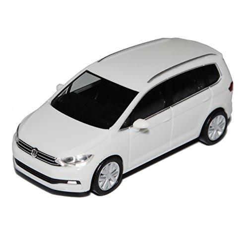 VW-Volkswagen-Touran-II-Weiss-Ab-2015-H0-187-Herpa-Modell-Auto-mit-individiuellem-Wunschkennzeichen