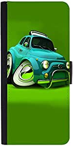 Snoogg Deformed Fiat 2621 Graphic Snap On Hard Back Leather + Pc Flip Cover S...