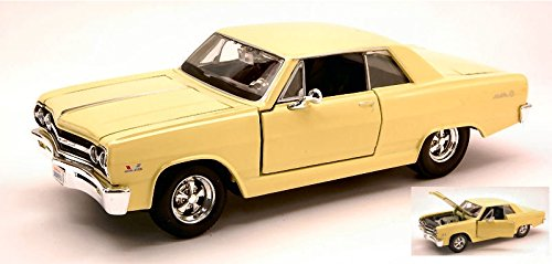 chevrolet-malibu-ss-1965-light-yellow-124-maisto-auto-stradali-modello-modellino-die-cast