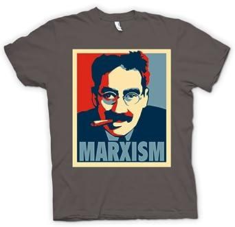 "Marxism Groucho Marx - Communism T Shirt - Charcoal Grey - Adult Mens 50-52"" XXL"