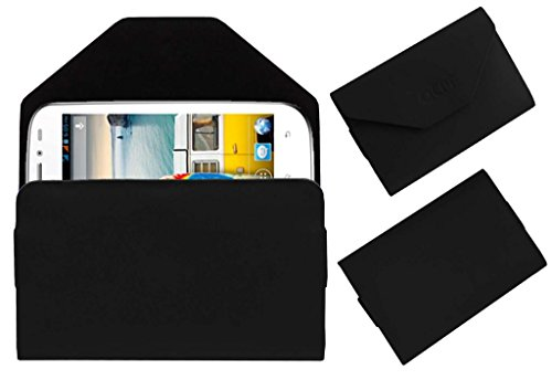 Acm Premium Pouch Case For Micromax Bolt A71 Flip Flap Cover Holder Black  available at amazon for Rs.179