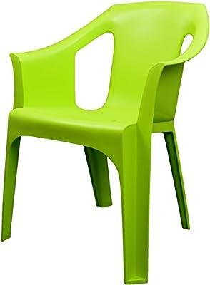 """Resol """"Cool"""" Garden Outdoor / Indoor Designer Plastic Chairs - Green - Garden Furniture (Pack of 4 chairs)"""