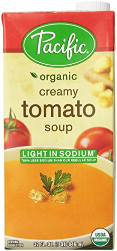 Pacific Natural Foods Organic Light Sodium Creamy Tomato Soup Nutrition