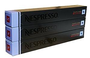 Nespresso Capsules - Vivalto Lungo Decaffeinato - 30 Capsules, 3 Sleeves - New Decaf variety