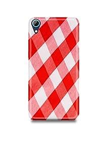Red & White Plaid HTC 626 Case