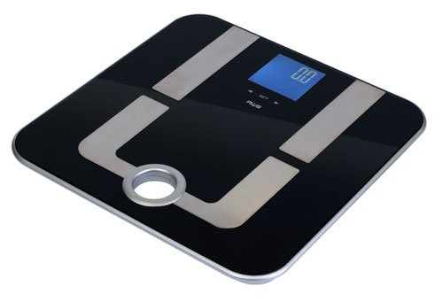 American Weigh Scales MPR-180 Mercury Pro Body Fat Bathroom Scale with Carrying Handle for Easy Storage and 396-Pound Capacity