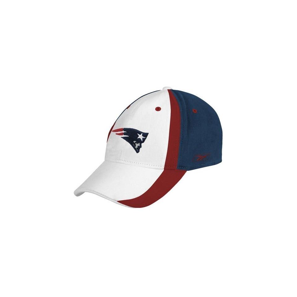 Reebok New England Patriots White Multi Team Color Flex Fit Hat on ... 0a929ed38