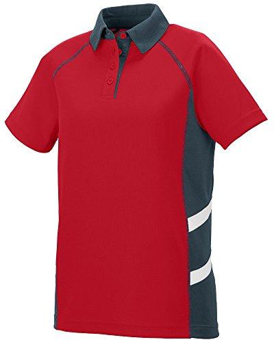 augusta-sportwear-t-shirt-donna-red-slate-white-s