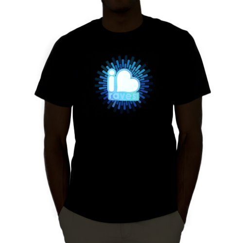 Iheartraves Logo Led Shirt (Small)