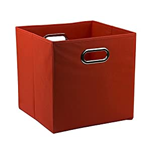 12 inch solid nonwoven large foldable storage cube red. Black Bedroom Furniture Sets. Home Design Ideas