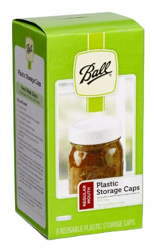 Ball Regular Mouth Jar Storage Caps Set of 8 (Mason Jar Plastic Ring compare prices)