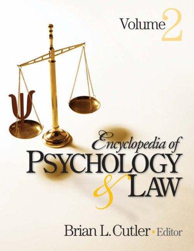 Encyclopedia of Psychology and Law (2 volume set)