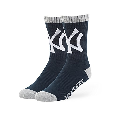 MLB New York Yankees '47 Brand Bolt Team Color Crew Socks, Large (Men's 9-13 / Women's 10-12), 1-Pack (Kids Yankee Hat compare prices)