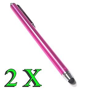 Bargains Depot® (Pink) 2 pcs (2 in 1 Bundle Combo Pack) SILM / ACCURATE / FINE POINT / THINNER BARREL Capacitive Stylus/styli Universal Touch Screen Pen for Tablet & Cell Phone : Tablet PC Computer : Le Pan TC 970 9.7 Inch Google Android Tablet, Google 3