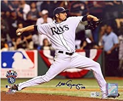 Matt Garza vs Red Sox Autographed / Signed ALCS 8x10 Photo