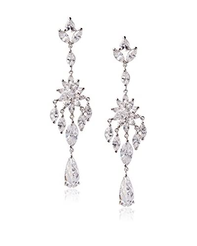 CZ by Kenneth Jay Lane Mult CZ Dramatic Fringe Post Earrings