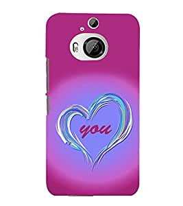 printtech Love You Back Case Cover for HTC One M9+::HTC One M9 Plus