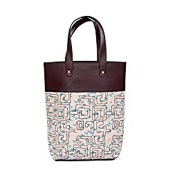Natural Furnsih Printed Canvas Shopper Bag