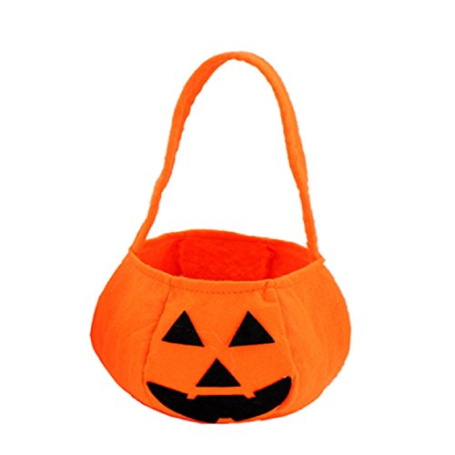 Sannysis Smile Pumpkin Bag Kids Candy Basket Halloween Holiday