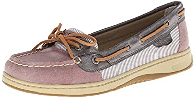 Sperry Top-Sider Women's Angelfish Engineer Stripe Boat Shoe, Mauve, 5 M US