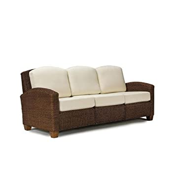 Home Styles 5402-61 Cabana Banana 3 Seat Sofa, Cocoa Finish