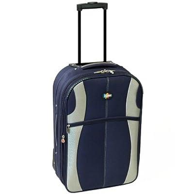 Karabar 22 Inch Expandable Suitcase (Navy/Silver) by Karabar