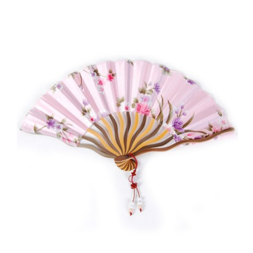 Quyi Chinese Mini Portable Handheld Fan Painting Flower