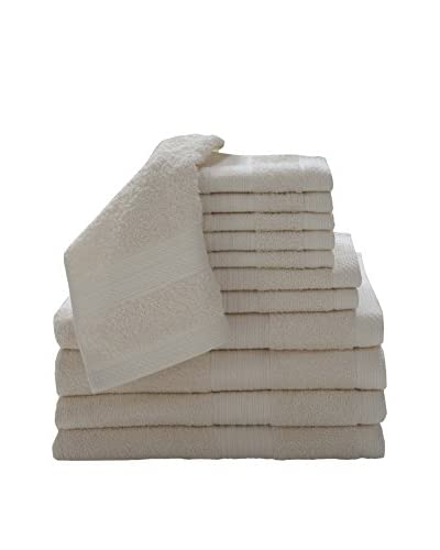 Luxury Home 12-Piece Super Plush Egyptian Cotton Towel Set