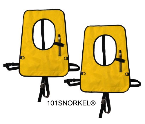 Gold Adult Explorer Snorkel Vests (2 Pack) -New Updated Version with D-Rings and Comfort Straps