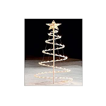 CHRISTMAS 3 1/2 FT TALL SPIRAL TREE WITH CLEAR LIGHTS & STAR TOPPER