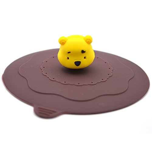 Generic 2Pcs/Set Cartoon Bear Silicone Bowl Cover